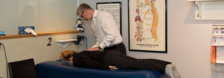 Chiropractor Peterborough ON Dr. Ed Jindrich Adjusting Patient